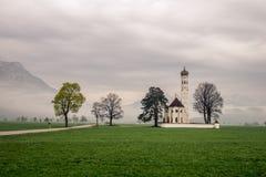Η εκκλησία του neuschwanstein Γερμανία Στοκ Εικόνα