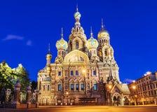 Η εκκλησία του Savior στο αίμα στη Αγία Πετρούπολη στοκ φωτογραφία