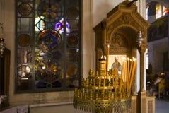 Η εκκλησία των επιβαρύνσεων Titos στην πόλη Ηρακλείου, Κρήτη στοκ εικόνα