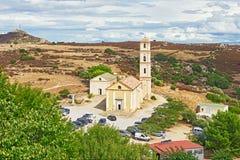 Η εκκλησία Annunciation σε Sant Antonino, Κορσική Στοκ εικόνα με δικαίωμα ελεύθερης χρήσης