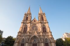Η εκκλησία Guangzhou shengxin είναι το ορόσημο του guangzhou Κίνα, κάθε μέρα πολλοί λαοί έρχονται εδώ Στοκ εικόνες με δικαίωμα ελεύθερης χρήσης
