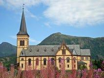 η εκκλησία kabelvag η Νορβηγία ξύ&lambda Στοκ εικόνες με δικαίωμα ελεύθερης χρήσης