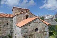 Η εκκλησία Santa Comba de Bande, Ourense, Γαλικία Ισπανία στοκ εικόνες