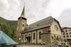 Η εκκλησία κοινοτήτων του ST Μαυρίκιος, Zermatt, Ελβετία στοκ εικόνες