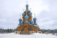 Η εκκλησία μεταμόρφωσης στην πόλη αστεριών κοντά στη Μόσχα Στοκ Εικόνες