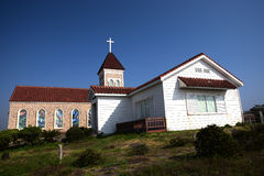 Η εκκλησία σε Seopjikoji τοποθετεί το νησί Jeju Στοκ φωτογραφία με δικαίωμα ελεύθερης χρήσης