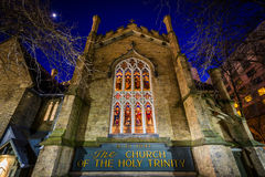 Η εκκλησία της ιερής τριάδας τη νύχτα, στο Τορόντο, Οντάριο Στοκ εικόνες με δικαίωμα ελεύθερης χρήσης