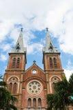 Η εκκλησία της Notre Dame, πόλη Χο Τσι Μινχ Στοκ φωτογραφίες με δικαίωμα ελεύθερης χρήσης