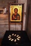 Η εκκλησία του πολλαπλασιασμού των φραντζολών και των ψαριών, Tabgha Στοκ εικόνα με δικαίωμα ελεύθερης χρήσης