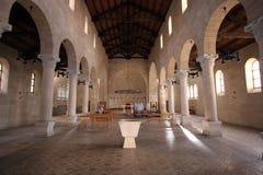 Η εκκλησία του πολλαπλασιασμού των φραντζολών και των ψαριών, Tabgha Στοκ Εικόνες