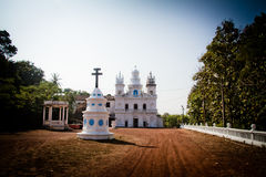 Η εκκλησία του ST Cajetan Anjuna, Goa, Ινδία Στοκ φωτογραφίες με δικαίωμα ελεύθερης χρήσης