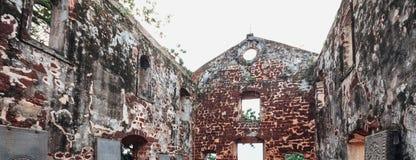 Η εκκλησία του ST Paul ` s είναι ένα ιστορικό κτήριο εκκλησιών σε Melaka, Μαλαισία Στοκ Εικόνες