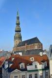 Η εκκλησία του ST Peter είναι μια λουθηρανική εκκλησία στη Ρήγα Στοκ Φωτογραφία