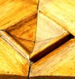 Η εκκλησία arsizio busto έκλεισε την ξύλινη Ιταλία Λομβαρδία Στοκ Φωτογραφίες