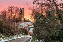 Η εκκλησία Poggio Allemanno Στοκ Φωτογραφίες