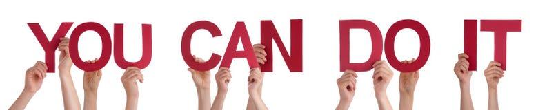 Η εκμετάλλευση το ευθύ Word χεριών εσείς μπορεί να το κάνει Στοκ φωτογραφίες με δικαίωμα ελεύθερης χρήσης