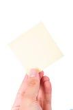 Η εκμετάλλευση χεριών το ταχυδρομεί Στοκ εικόνες με δικαίωμα ελεύθερης χρήσης