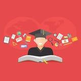 η εκπαίδευση έννοιας βιβλίων απομόνωσε παλαιό Ε-εκμάθηση Διανομή της έννοιας γνώσης διανυσματική απεικόνιση