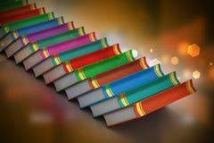 η εκπαίδευση έννοιας βιβλίων απομόνωσε παλαιό Στοκ Φωτογραφία