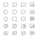 Η λεκτική φυσαλίδα λεπταίνει τα εικονίδια Στοκ εικόνες με δικαίωμα ελεύθερης χρήσης