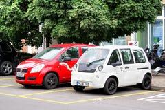Ηλεκτρικά αυτοκίνητα Στοκ Εικόνες