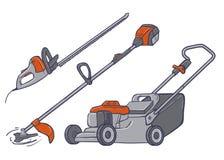 Ηλεκτρικά εργαλεία κήπων Στοκ εικόνα με δικαίωμα ελεύθερης χρήσης