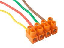 Ηλεκτρικά καλώδια με τα τερματικά Στοκ εικόνα με δικαίωμα ελεύθερης χρήσης
