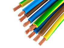 Ηλεκτρικά καλώδια χαλκού Στοκ φωτογραφίες με δικαίωμα ελεύθερης χρήσης