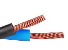 Ηλεκτρικά καλώδια χαλκού Στοκ Εικόνες