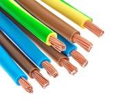 Ηλεκτρικά καλώδια χαλκού Στοκ φωτογραφία με δικαίωμα ελεύθερης χρήσης