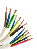 Ηλεκτρικά καλώδια χαλκού Στοκ εικόνα με δικαίωμα ελεύθερης χρήσης