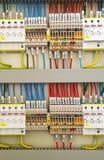 Ηλεκτρικά τερματικά και καλώδια Στοκ Φωτογραφία