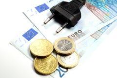 Ηλεκτρικά χρήματα βουλωμάτων Στοκ Εικόνα