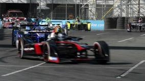 Ηλεκτρικά Grand Prix τύπων Λονγκ Μπιτς απόθεμα βίντεο