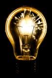 Ηλεκτρικά sparklers στην ιδέα βολβών Στοκ Εικόνες