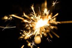 Ηλεκτρικά sparklers Στοκ φωτογραφία με δικαίωμα ελεύθερης χρήσης