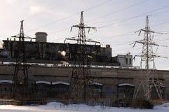 Ηλεκτρικές γραμμές δύναμης Στοκ εικόνες με δικαίωμα ελεύθερης χρήσης