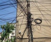 ηλεκτρικές γραμμές Στοκ Φωτογραφίες