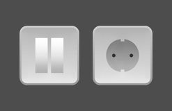 ηλεκτρικές νέες τεχνολογίες διακοπτών υποδοχών συσκευών Στοκ Εικόνα
