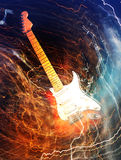 Ηλεκτρική έννοια κιθάρων Στοκ Φωτογραφίες