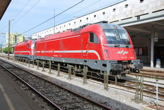 Ηλεκτρική ατμομηχανή των σλοβένικων σιδηροδρόμων Στοκ Φωτογραφίες