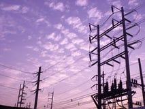 Ηλεκτρική βιομηχανία εργοστασίων παραγωγής ηλεκτρικού ρεύματος Στοκ Φωτογραφίες