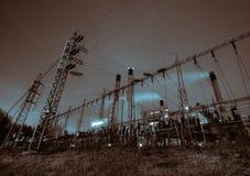 Ηλεκτρική ενέργεια νύχτας Στοκ Εικόνες