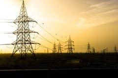 Ηλεκτρική ενέργεια στην έρημο Στοκ Εικόνα