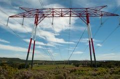 ηλεκτρική ενέργεια δύο φωτισμού καλωδίων Στοκ Εικόνα