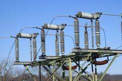 Ηλεκτρική λεπτομέρεια σταθμών ηλεκτρονόμων στοκ φωτογραφίες