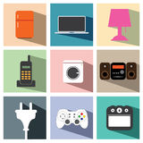 Ηλεκτρική καθορισμένη απεικόνιση eps10 εικονιδίων συσκευών Στοκ φωτογραφίες με δικαίωμα ελεύθερης χρήσης