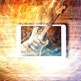 Ηλεκτρική κιθάρα - έννοια ηλεκτρονικού εμπορίου Στοκ Εικόνες