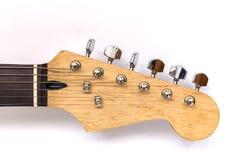 Ηλεκτρική κιθάρα λαιμών, κιθάρες σταθερών μερών τόρνου και δέκτες σε ένα άσπρο BA Στοκ φωτογραφίες με δικαίωμα ελεύθερης χρήσης