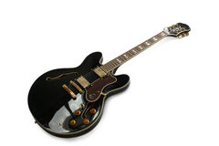 Ηλεκτρική κιθάρα που απομονώνεται σε άσπρο Backgorund Στοκ εικόνες με δικαίωμα ελεύθερης χρήσης